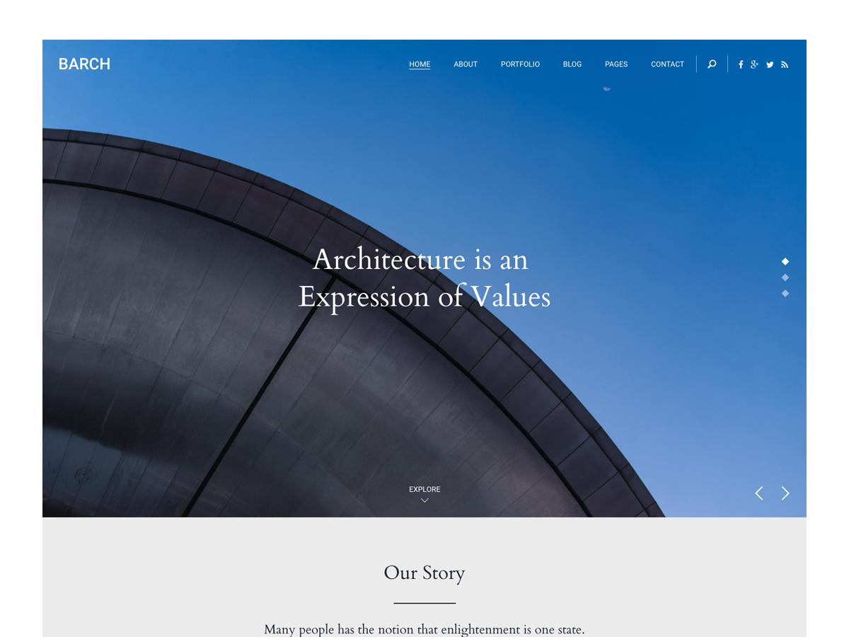 BARCH Theme company WordPress theme