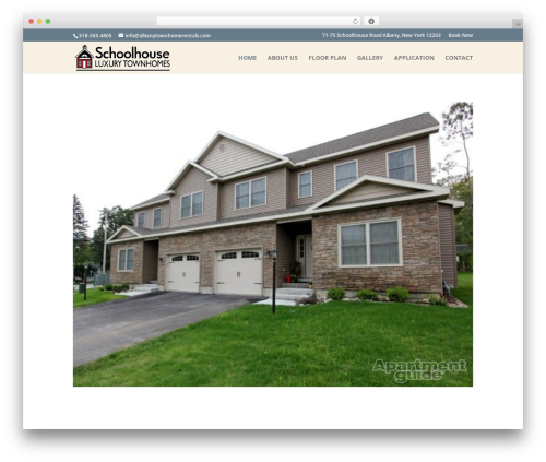 Best WordPress theme Divi - albanytownhomerentals.com