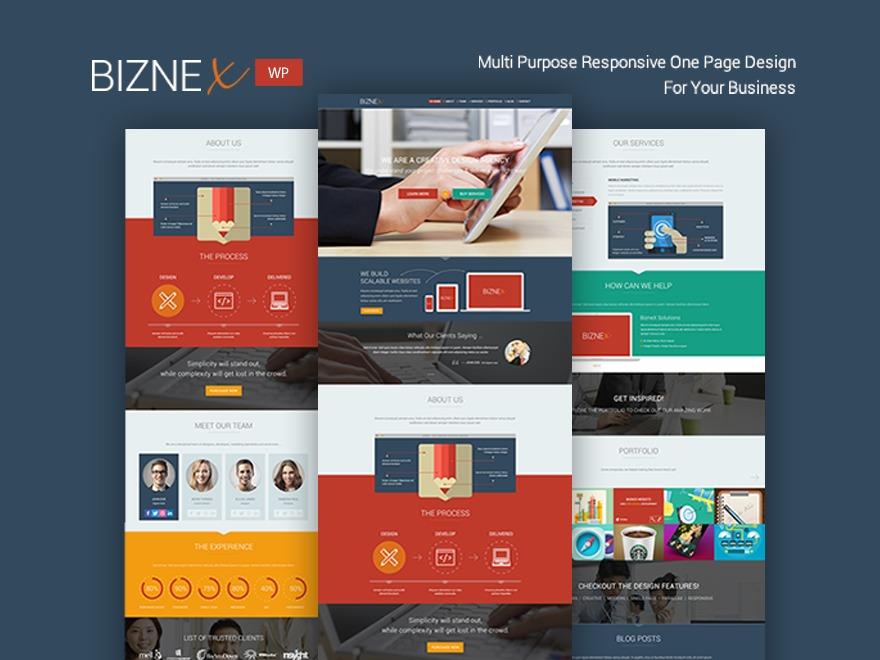 Biznex (shared on wplocker.com) WordPress template