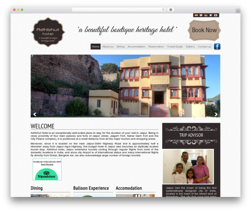 BLANK Theme WordPress page template - adhbhuthotel.com