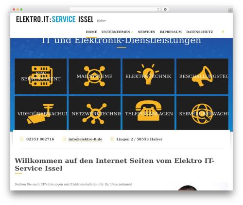 Blue Collar WordPress website template - itservice-luedenscheid.de