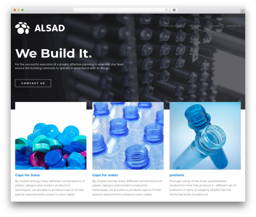 BuildPro WordPress theme - alsadcap.com