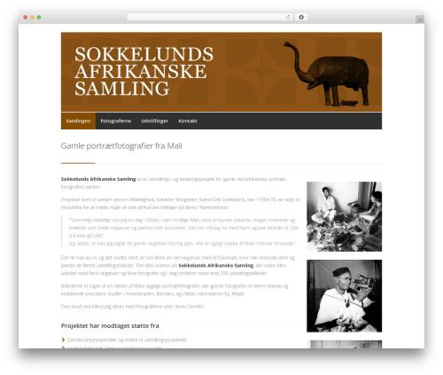 Centum WordPress website template - africancollection.dk