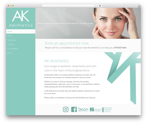 Gantry Theme for WordPress WordPress theme - ak-aesthetics.co.uk