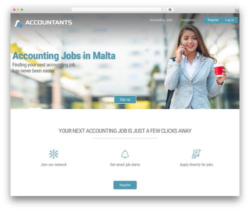 Jobify top WordPress theme - accountants.com.mt