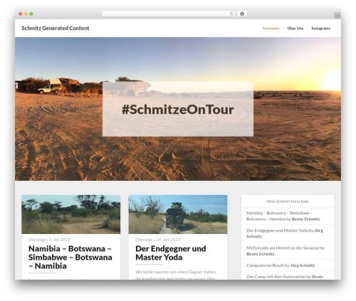 Newsbuzz newspaper WordPress theme - all-about-schmitz.de/wordpress