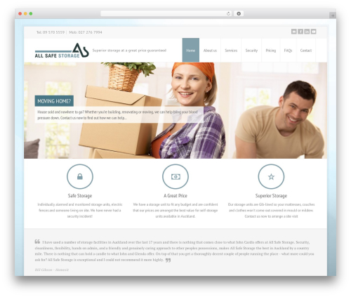 Free WordPress Theme My Login plugin - allsafestorage.co.nz