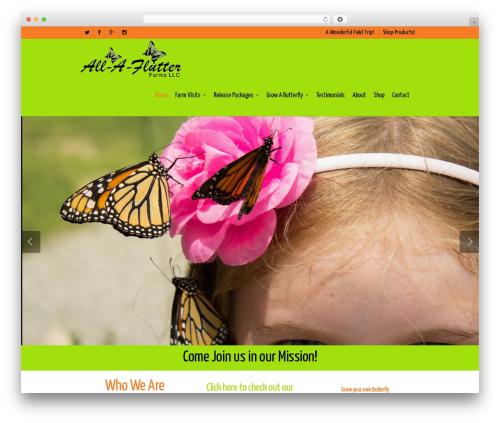 Salient template WordPress - all-a-flutter.com