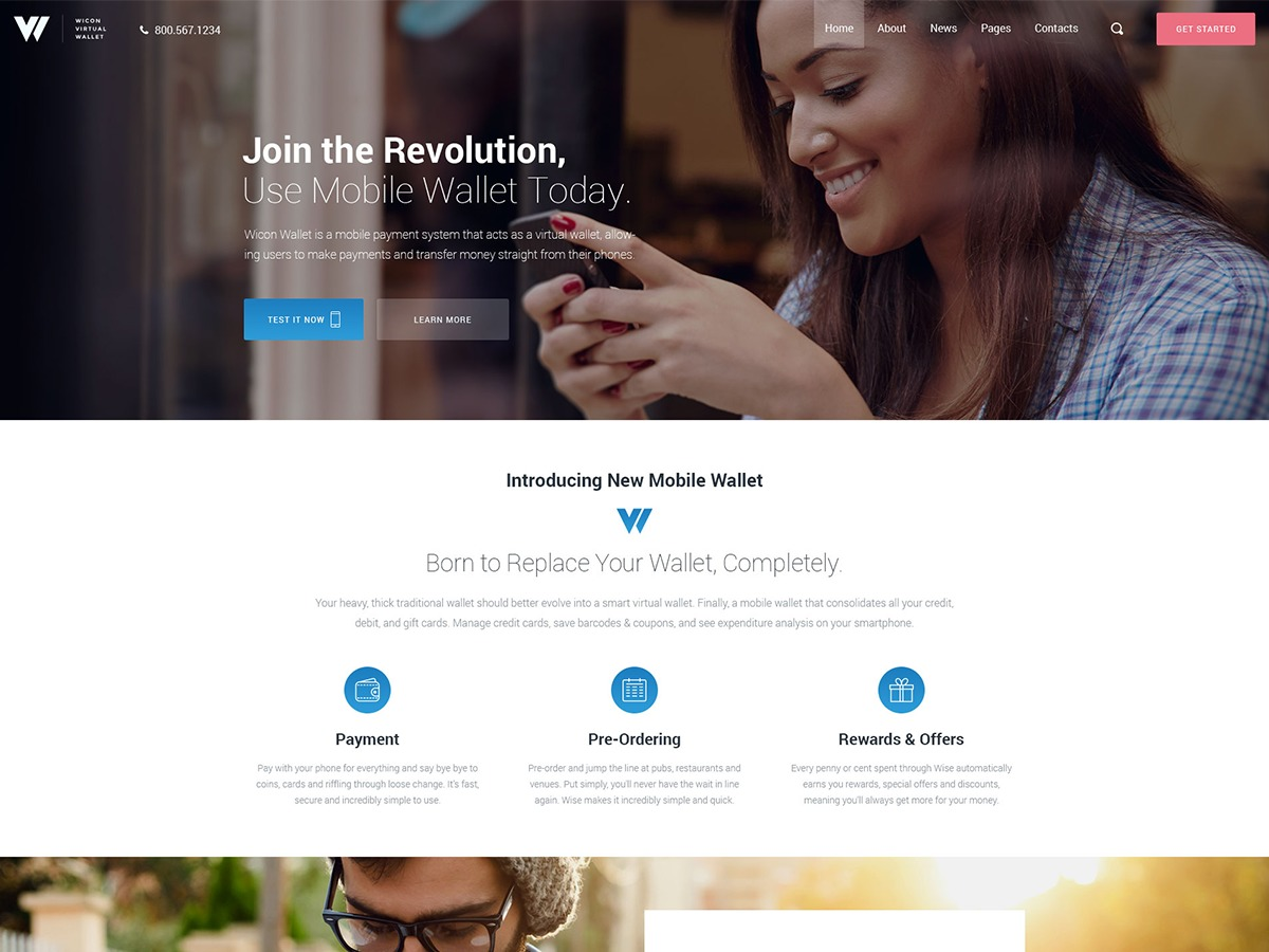 Wicon WordPress template for business