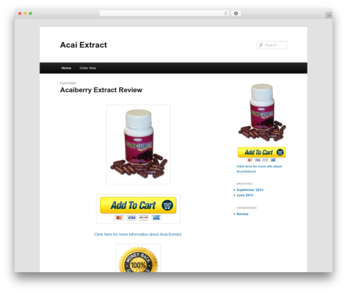 Free WordPress Twenty Eleven Theme Extensions plugin - acaiextract.me