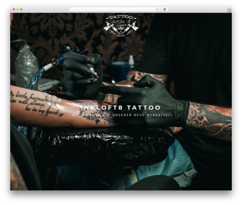 WordPress website template TattoPro - inkloft8.ch