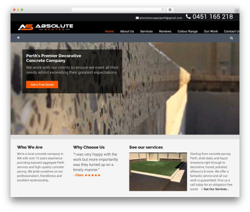 Worker WordPress theme - absolutescapes.com.au
