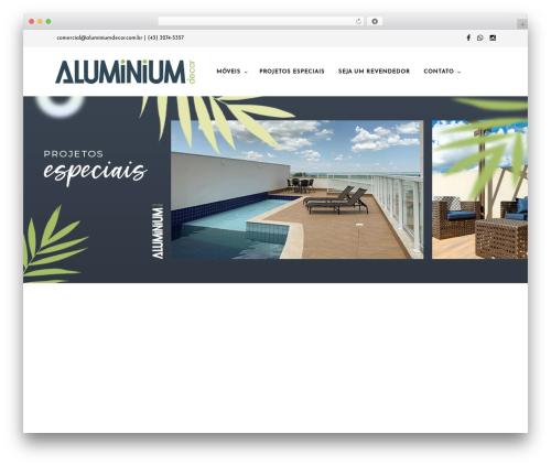 WP theme Mr. Tailor - aluminiumdecor.com.br