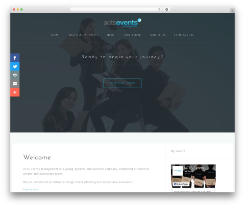 Astrid WordPress template free - actsevents.net