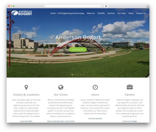 Best WordPress template BLDR Pro - anderson-bogert.com