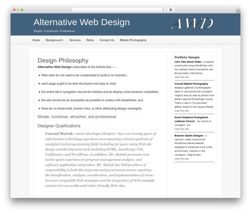 Catalyst theme WordPress - altweb-design.com