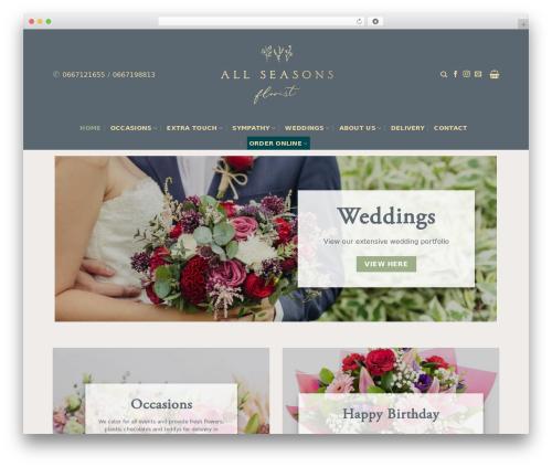 Flatsome WordPress wedding theme - allseasonsflorist.ie
