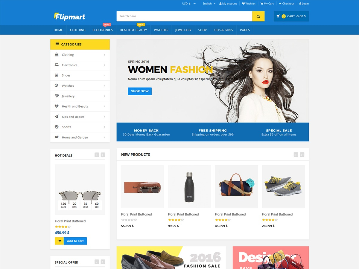 Flipmart WordPress ecommerce theme