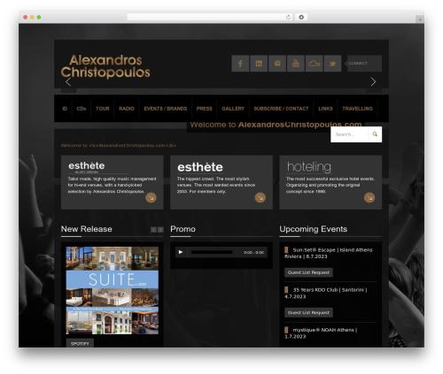K-BOOM best WordPress theme - alexandroschristopoulos.com