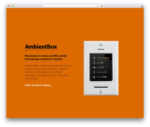 Theme WordPress Encore - ambientbox.com