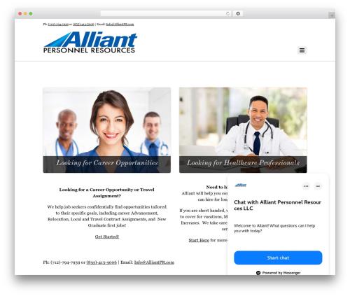 Themify Agency WP theme - alliantpr.com