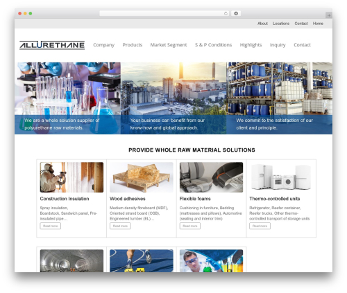 Themify Corporate best WordPress template - allurethane.com