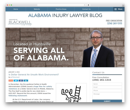 Willow-Responsive WordPress blog theme - alabamainjurylawyer-blog.com