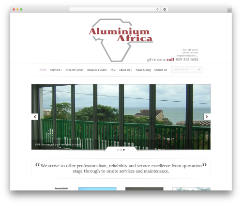 WordPress template Evolution - aluminiumafrica.co.za