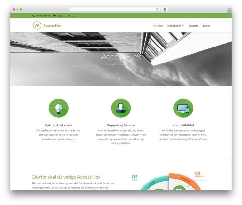 WordPress theme Divi - accessflex.com