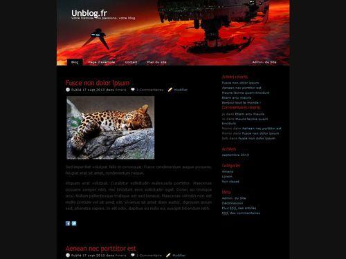 WordPress website template Vador