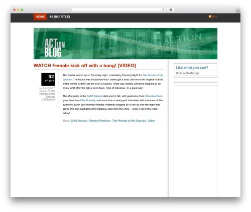 Yashfa WordPress theme - acttheatreblog.org