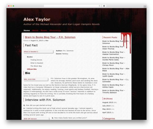 Zombie Apocalypse premium WordPress theme - alextaylor.info