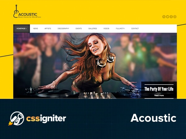 Acoustic WP theme