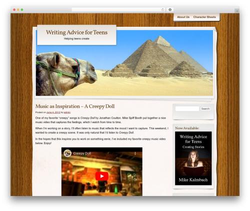 Adventure Journal best WordPress theme - writingadviceforteens.com