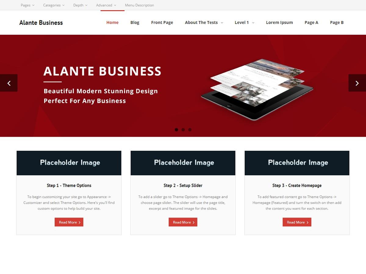 Alante Business best free WordPress theme