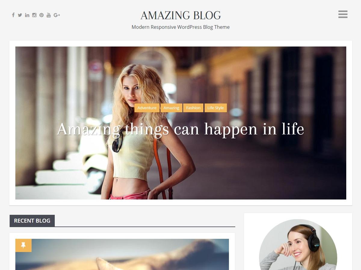 Amazing Blog best free WordPress theme