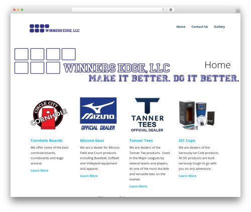 Ascension premium WordPress theme - winnersedgellc.com