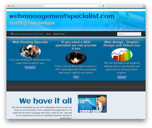 Athenea template WordPress free - webmanagementspecialist.com