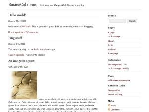 Best WordPress template Basic2Col