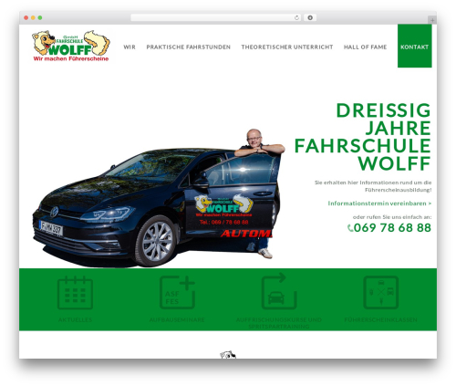 Best WordPress template Main Theme - wolff-fahrschule.de