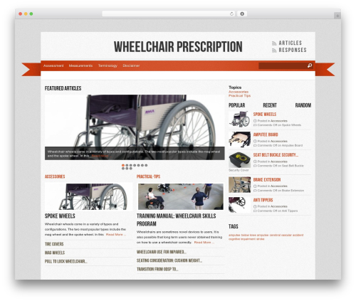 Best WordPress template Reporter - wheelchairprescription.com