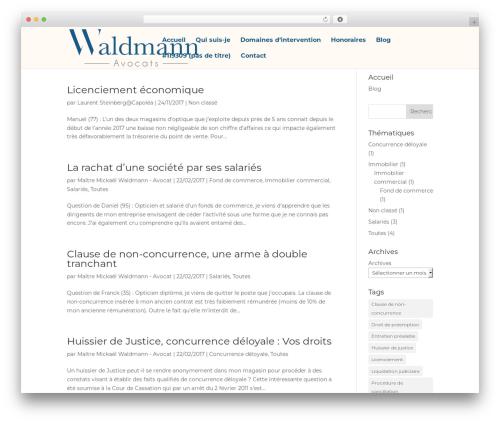 Best WordPress theme Divi - waldmann-avocats.com