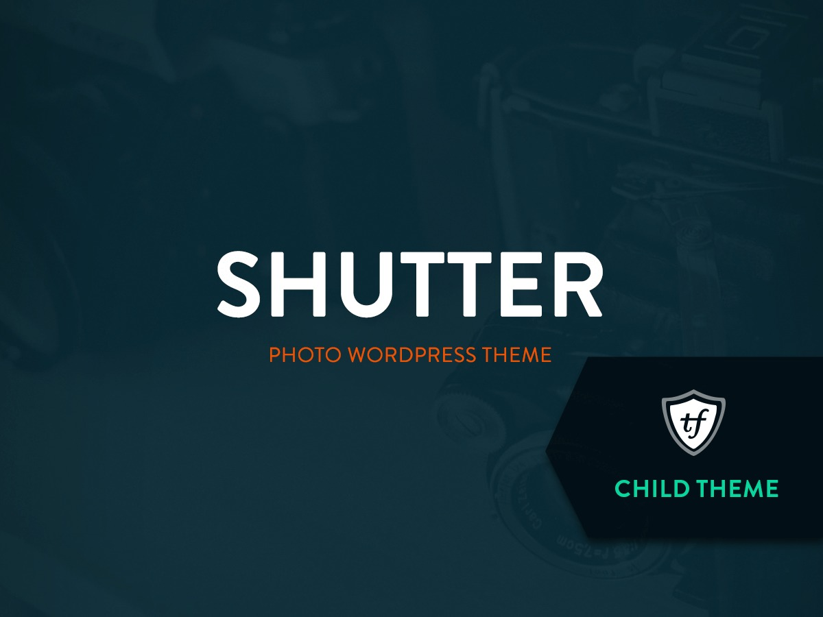 Best WordPress theme Shutter Child