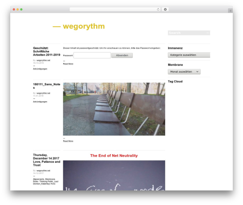 -BLOGUM WordPress blog template - wegorythm.net
