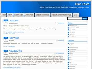 Blue Taste WordPress blog template