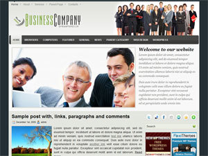 BusinessCompany WordPress template for business