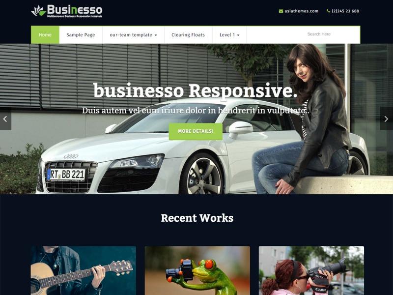 businesso dark WordPress template free