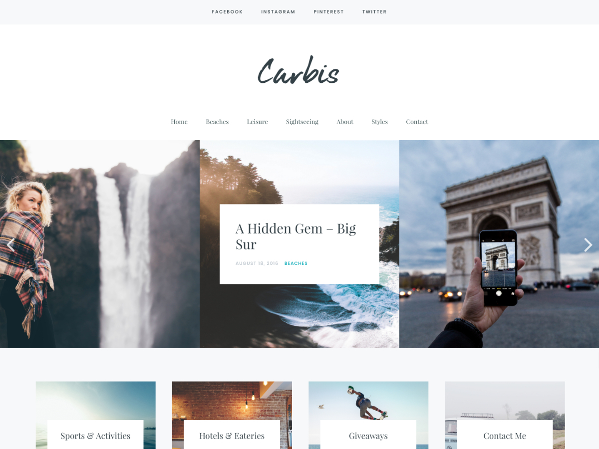 Carbis WordPress template
