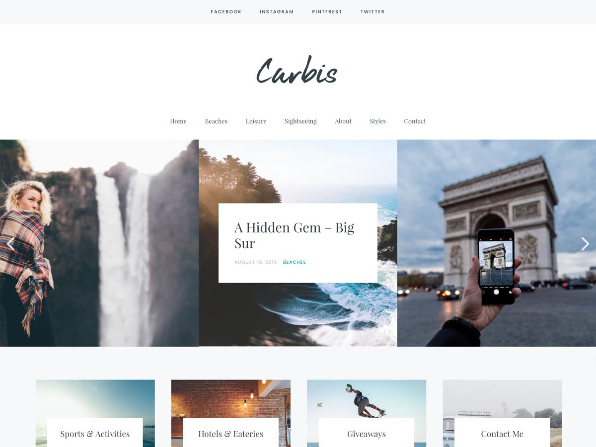 Carbis WordPress template