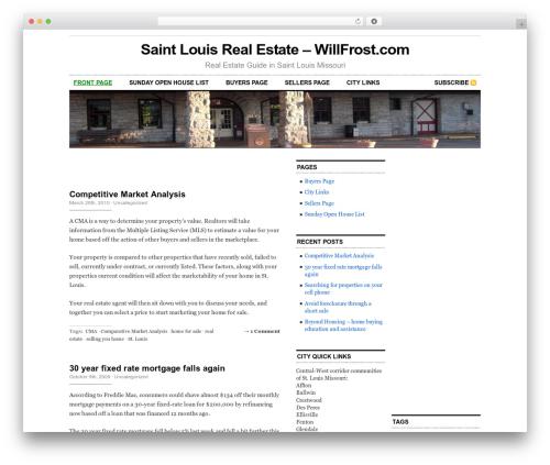 Cutline 3-Column Right best WordPress template - willfrost.com